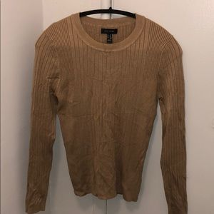 NEW - New Look tan ribbed sweater - size 10